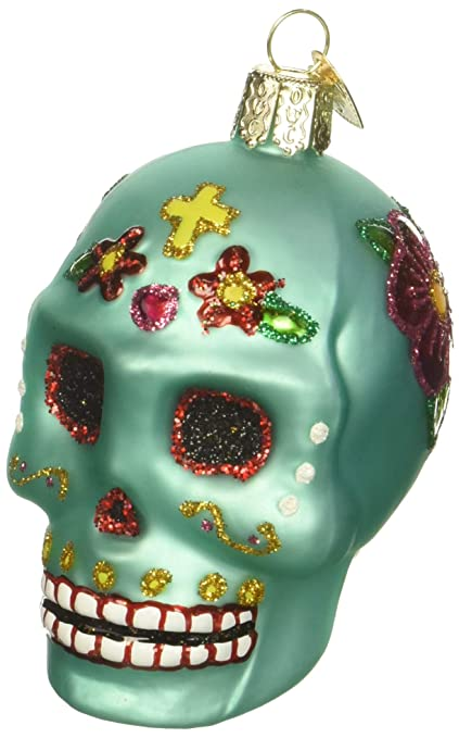 old world christmas ornaments day of the dead glass blown ornaments for christmas tree - Old Christmas Decorations