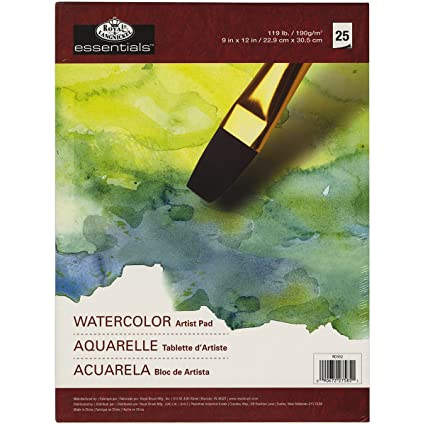 amazon com royal langnickel 25 sheet watercolor essentials artist