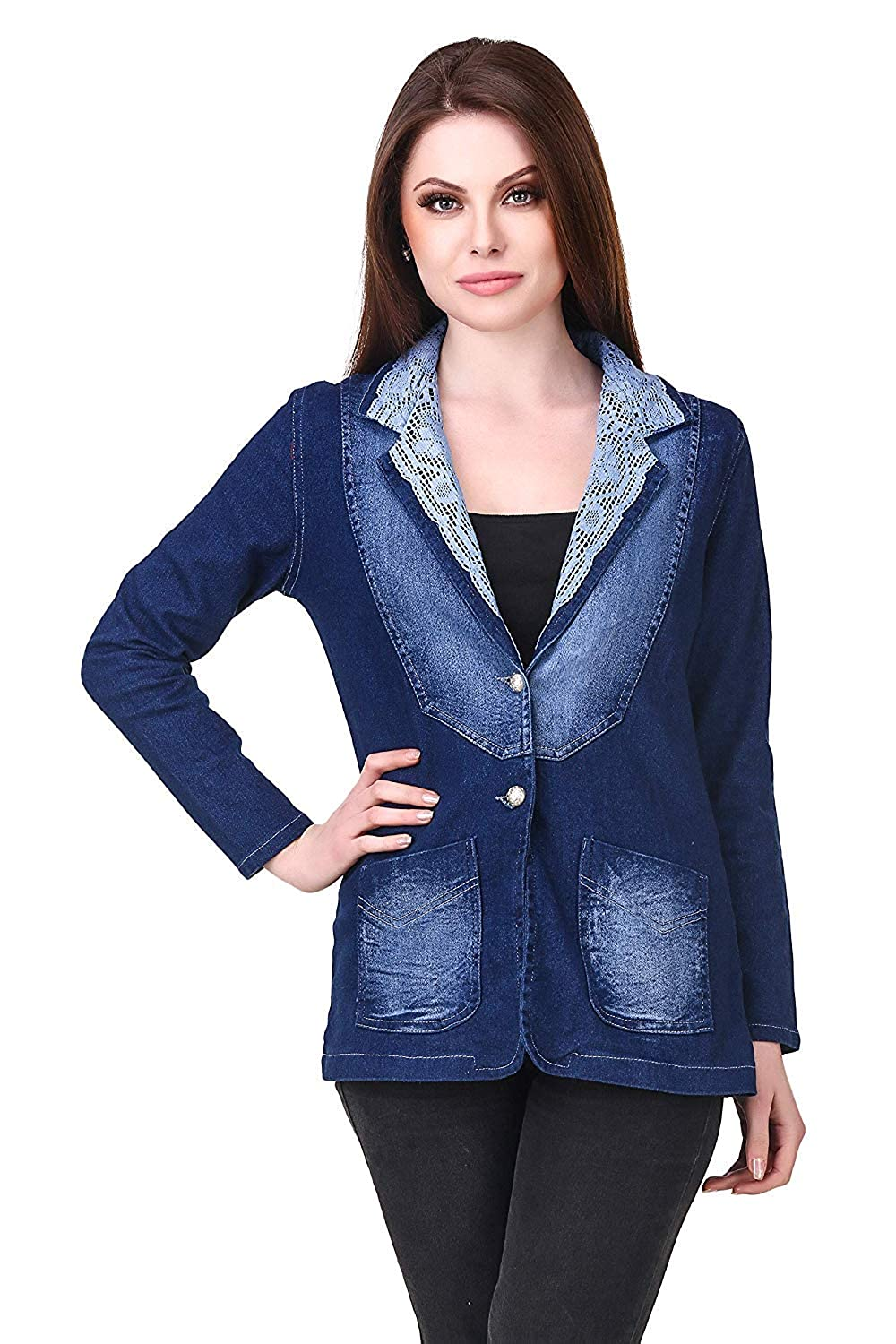 Buy Clo Clu Full Sleeves Stylish Comfort Fit Regular Collar Dark Blue Denim Coat For Women At Amazon In Shop for women's, men's and kids' fashion, beauty and home essentials online! amazon in