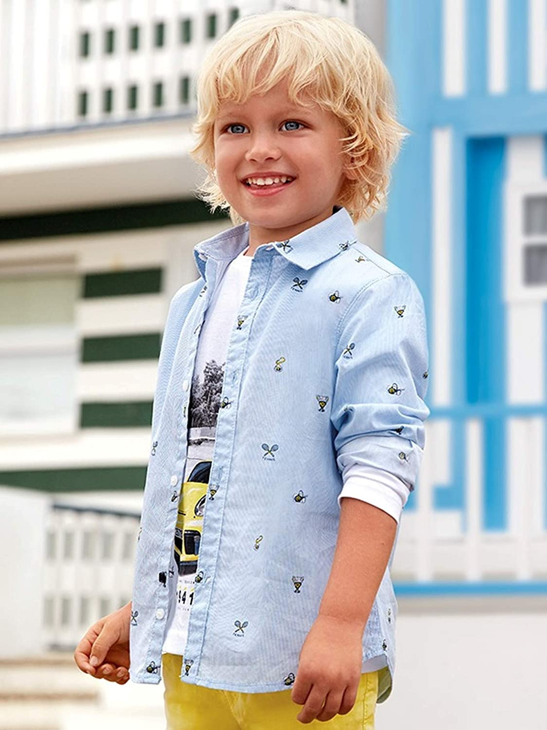 3137 L//s Shirt for Boys Mayoral Tennis