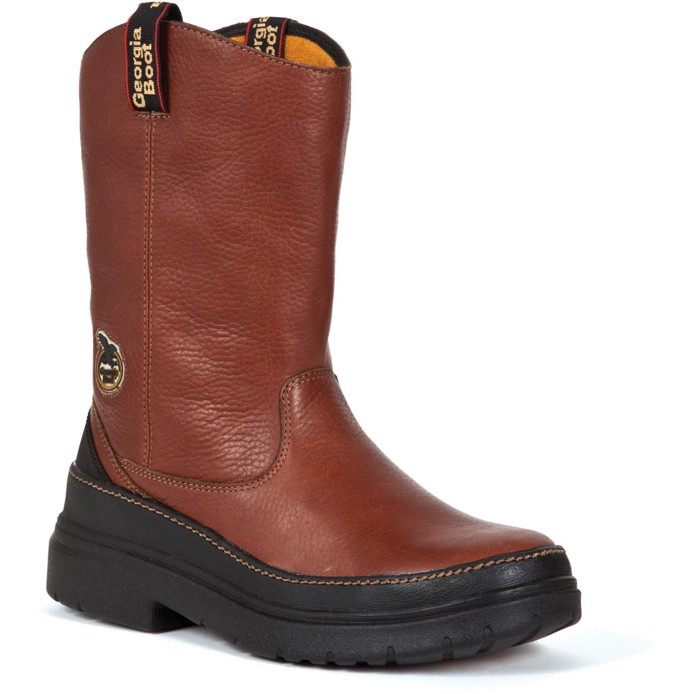 Georgia Homeland Steel-Toe EH Wellington Work Boot - Medium Brown, Size 12, Model# G5723