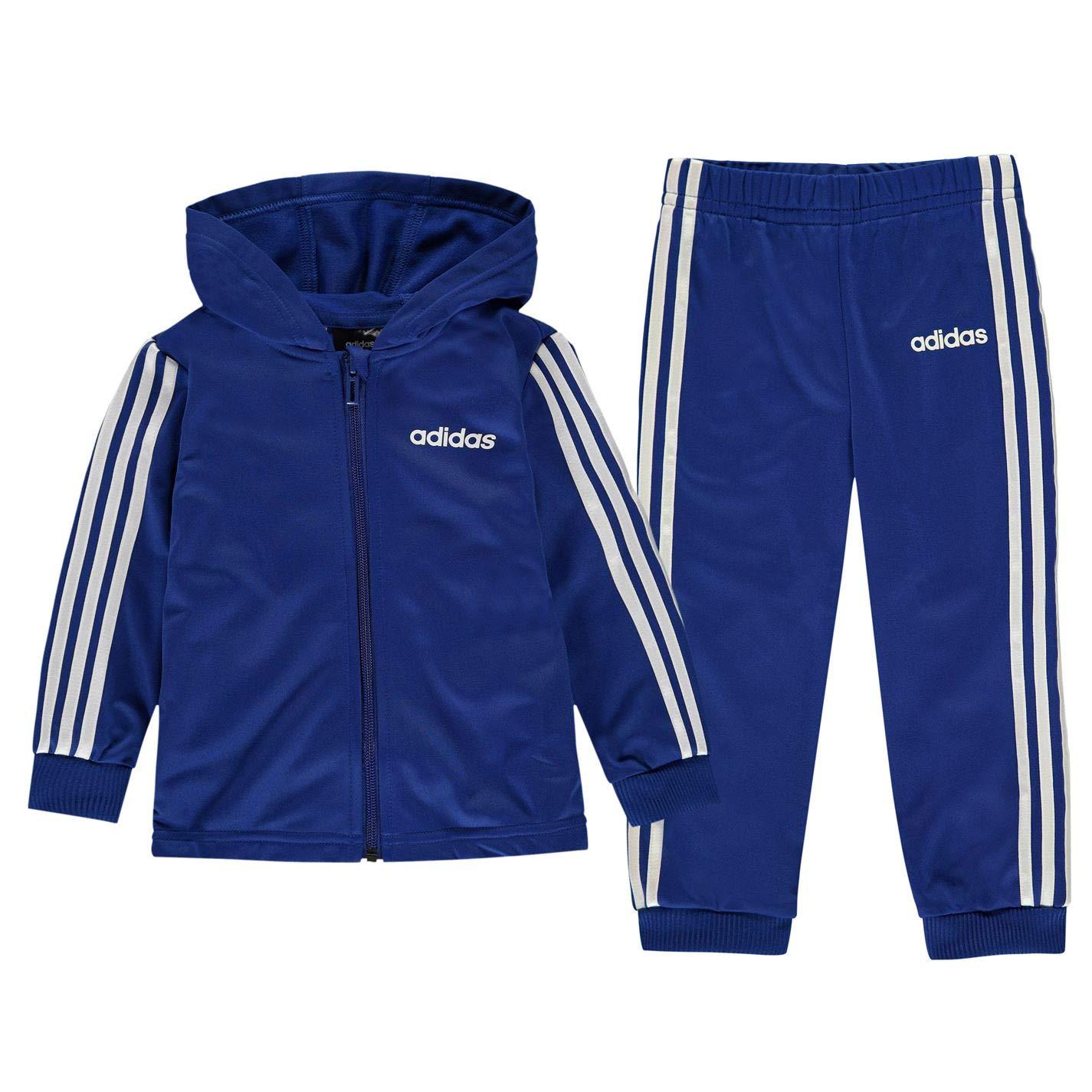 adidas Kids Boys 3 Stripe HD Poly Tracksuit Infant Long