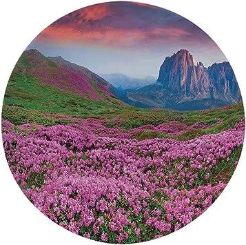 Decorative Platter Hanging Copper Mountain Landscape