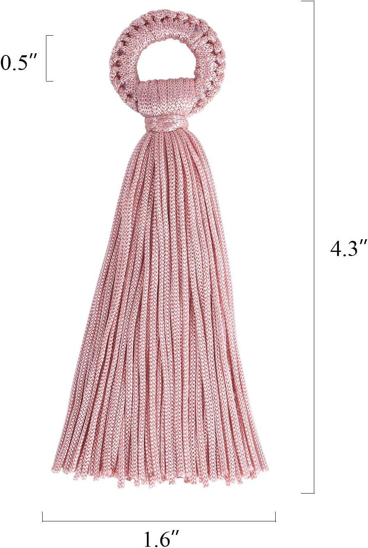 Wholesale 12 PCS Large Long Silk Tassels Handmade Soft Craft Tassel Bulk for DIY and Jewelry Making(6 Pairs)