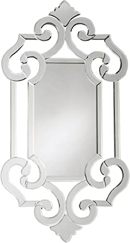Howard Elliott Clarice Hanging Venetian Wall Mirror, Antique Accent Mirror