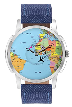 Buy bigowl airplane world map printed analog mens watch online at bigowl airplane world map printed analog mens watch gumiabroncs Choice Image