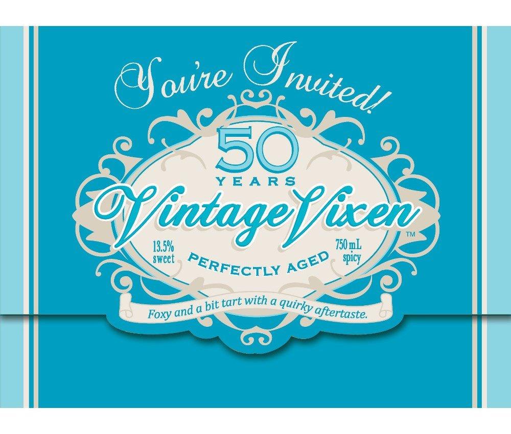 Creative Converting Vintage Vixen 8 Count 50th Birthday Party Invitations 891563