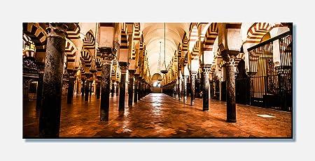 wandmotiv24 Cuadro en Lienzo La Gran Mezquita, Córdoba, España 100x40cm (Ancho x Alto) Foto panorámica Foto Lienzo Mural Foto Regalos M0814: Amazon.es: Hogar