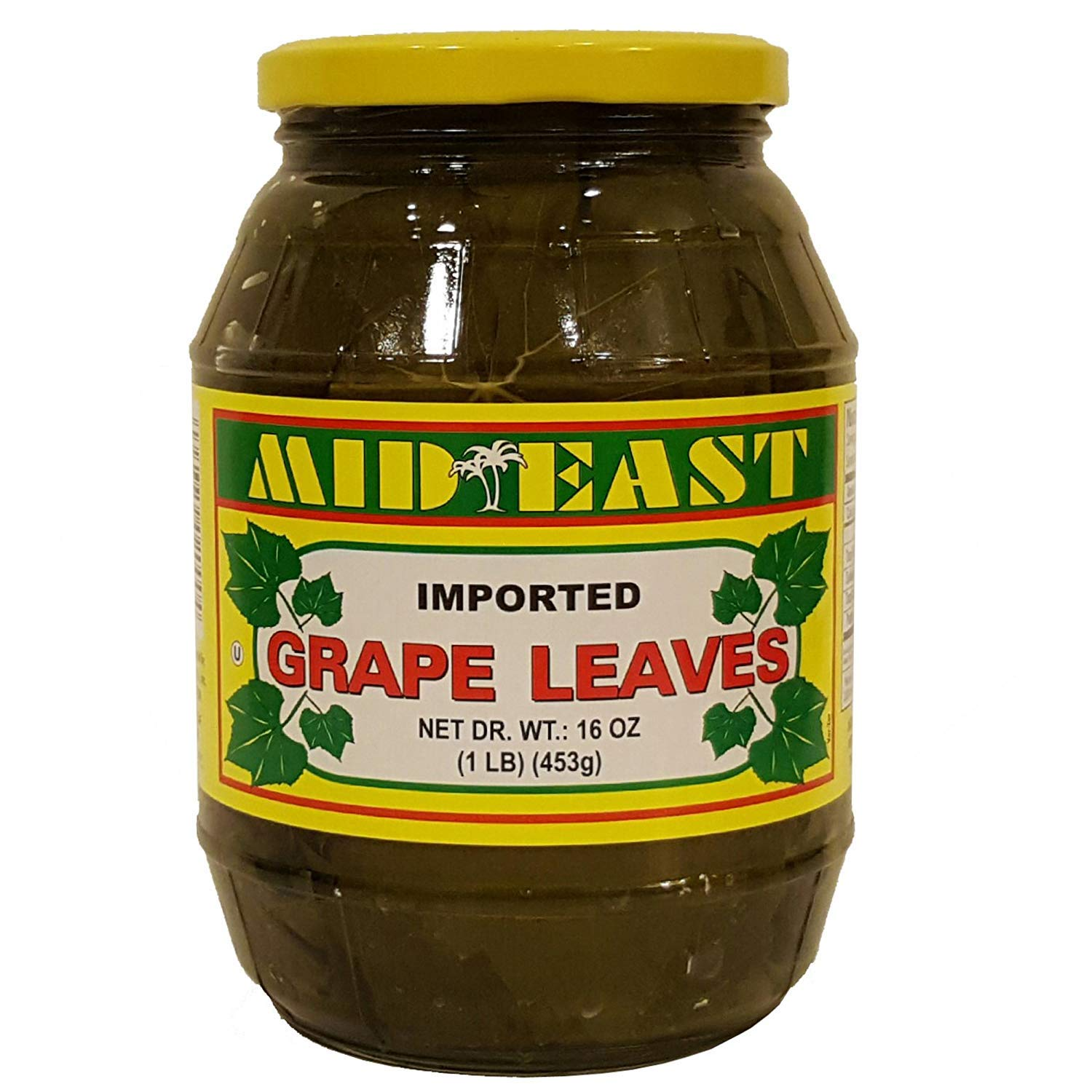 Mid East Premium California Style Grape Leaves In Glass Jar 1 Lb 453g Amazon Com Grocery Gourmet Food