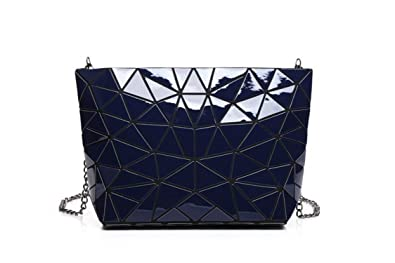 George Gouge Women New Geometry Laser Handbag Fashion Chain Baobao Totes  Clutch Shoulder Crossbody Bags For a9bdf9e4e3757