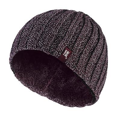3b28e7c6363 HEAT HOLDERS Mens Heatweaver Thermal Beanie Hat One Size (Burgundy ...