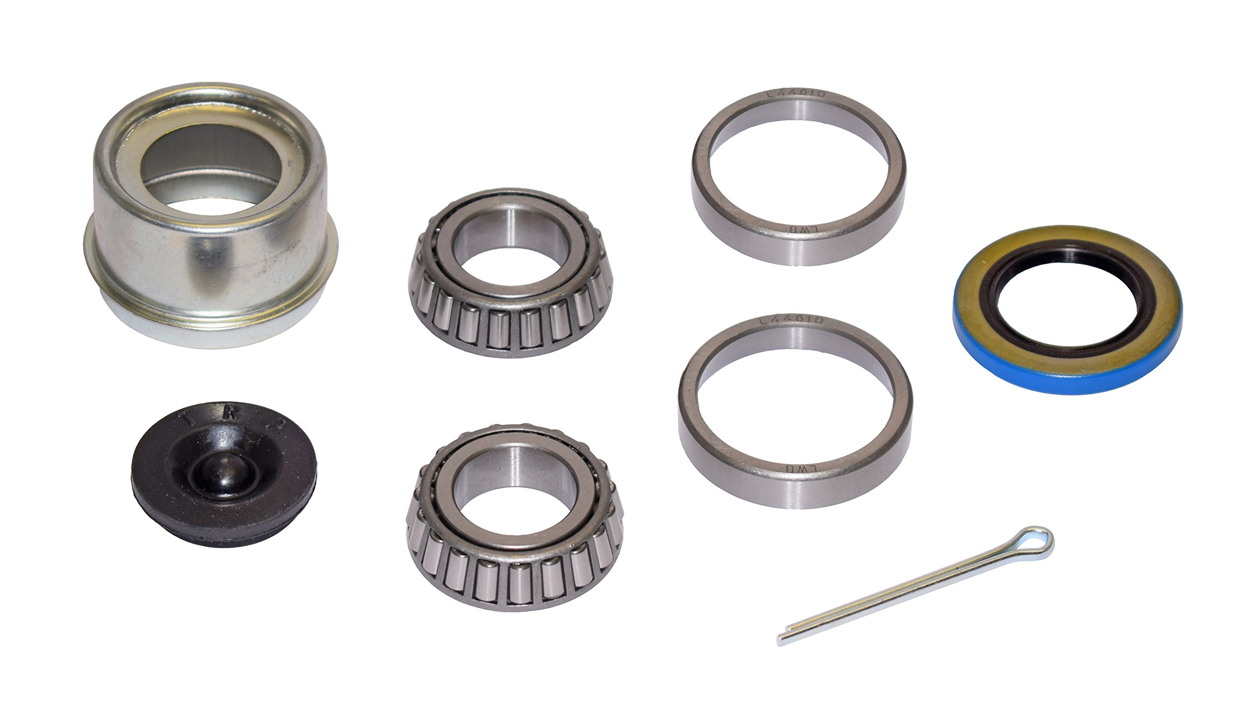 Rigid Hitch Trailer Bearing Repair Kit (280453-EZ) For 1-1/16 Inch Straight Spindle - Includes E-Z Lube Cap With Plug