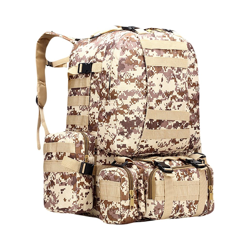 CyberDyer Outdoor Tactical Military Backpack Army Camouflage Molle Assault Mountaineering Combination Backpack 85%OFF