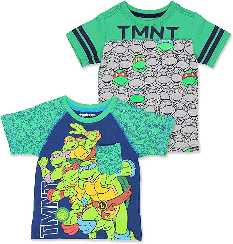 TMNT Teenage Mutant Ninja Turtles Toddler Boy's 2 Pack Short Sleeve T-Shirt Set
