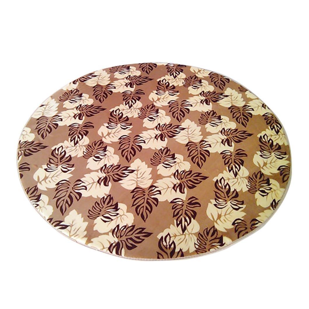 Sothread Circular Carpet Non-slip Decor Area Rug Coral Fleece Children Bedroom Rugs 30cm (B).