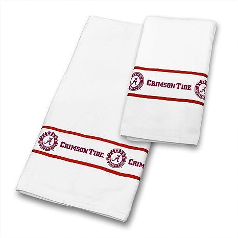 Alabama Crimson Tide 6 pc juego de toallas incluye: (3 toallas de baño,