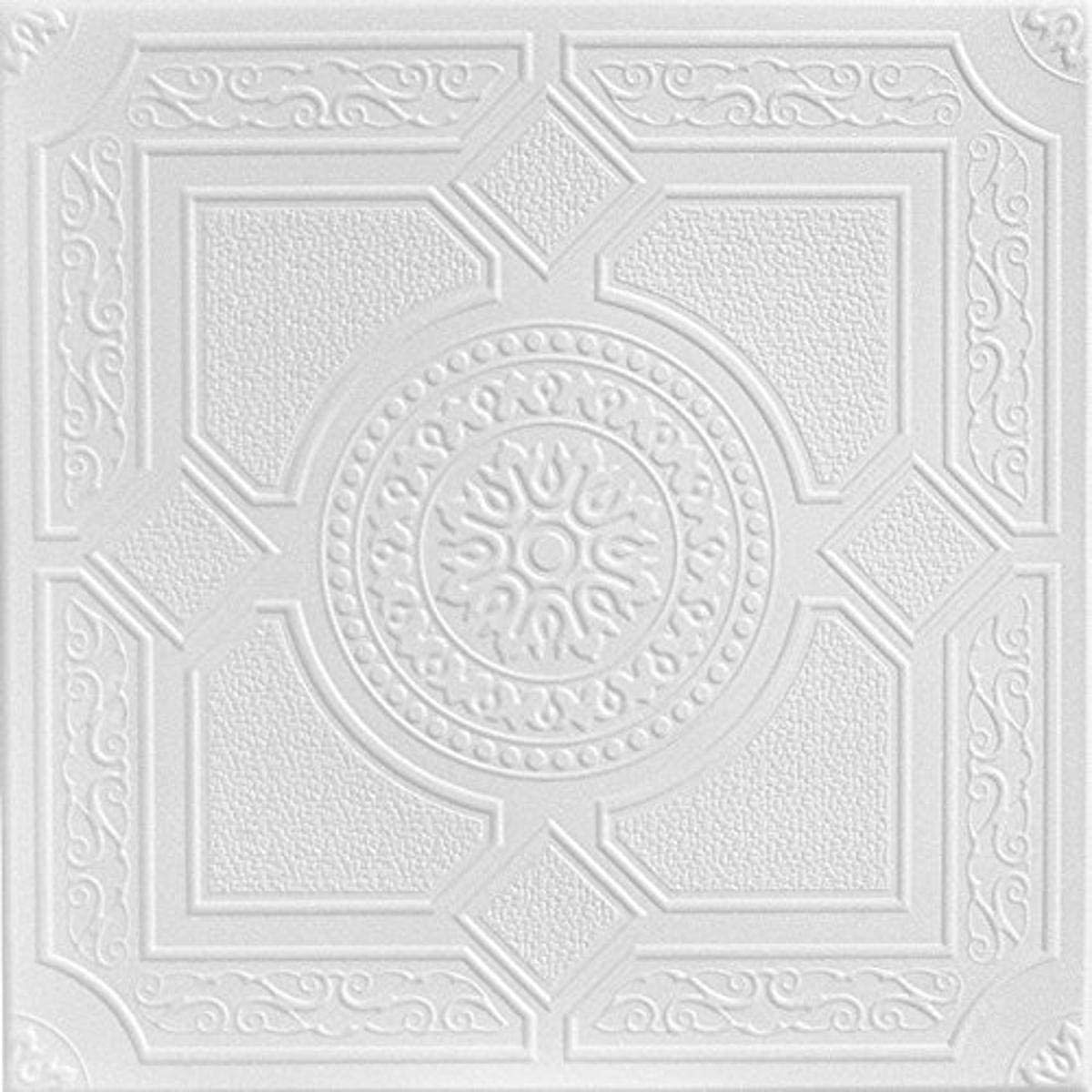 A la Maison Ceilings r30-8pw Kensington Gardens Ceiling Tile, Plain White