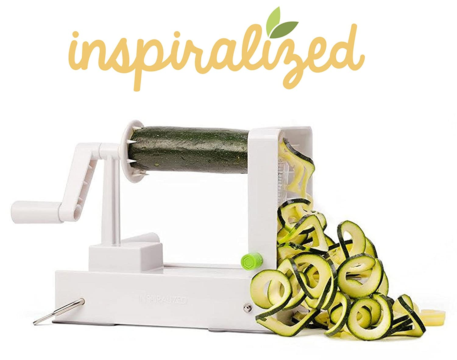 The Inspiralizer: Official vegetable spiralizer of Inspiralized SP100-BX