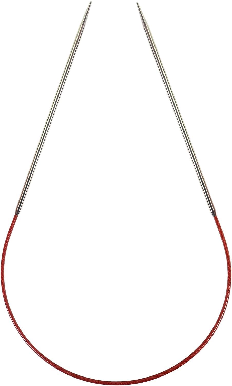 Red Circular Knitting Needles 9-Size 1//2.25mm