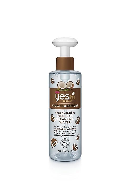 Agua limpiadora micelar reconfortante de algodón, de Yes To, 230 ml