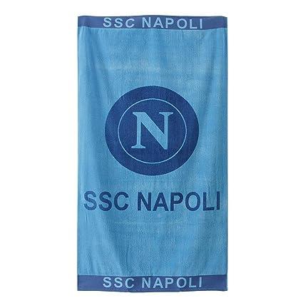 Toalla Playa S.S.C. Napoli Dis. 1 oficial 90 X 170 cm de rizo de algodón