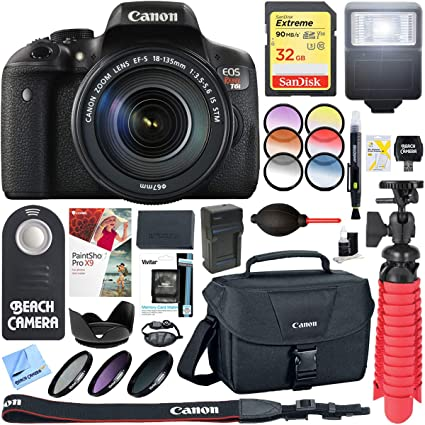 Canon Eos Rebel T6i Digital Slr Camera With Ef S 18 135mm Is Stm Lens Memory Flash Accessory Bundle