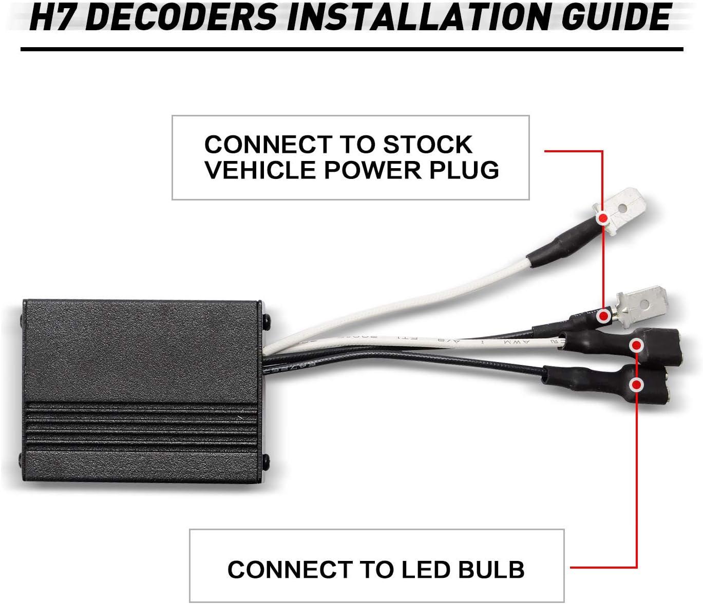 O-NEX LED Widerstand Kit H7 Relais Harness Adapter Anti Flicker Fehler Decoder Warnung Canceller
