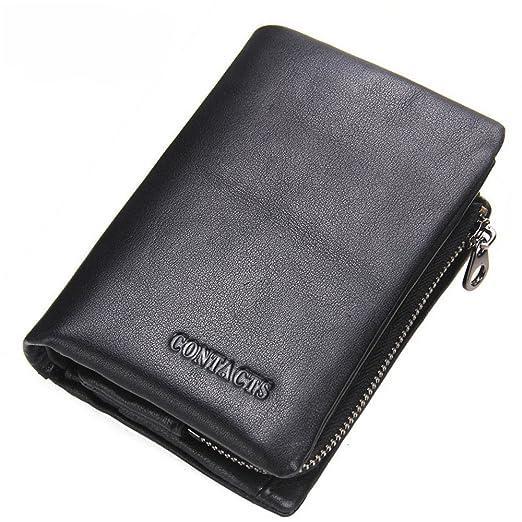 Sumferkyh Billetera Brief Paragraph Leather Wallet Man ...