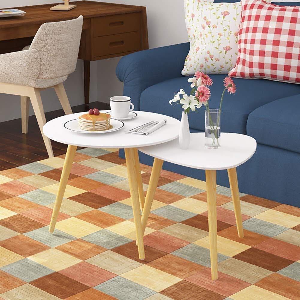 Amazon.com: CGH Nesting Mesa de mesa de café, moderna, para ...