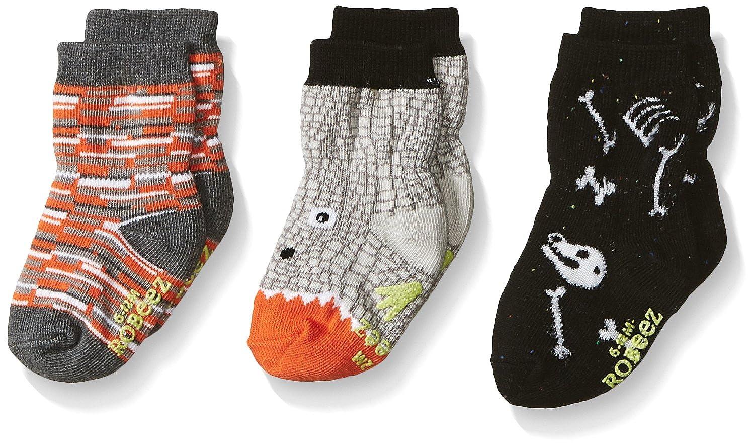 Robeez baby-boys 3 Pair Socks Exploring Critters 00-4644