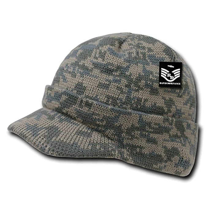 31a94d3085b US Military Style Camouflage Jeep Hunting Outdoor Visor Beanie Skull Caps  R604 Universal Digital