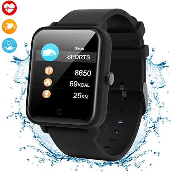 GUOLIAN Reloj Inteligente Smart Watch Pulsera IP68 30 m Resistente ...