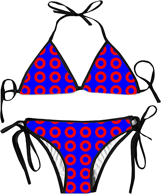 Moon and Universe Bikini 2pcs Swimwear Suit Asolliy Womens Strappy Push up Padded High Waisted Thong Hollow Out Stars