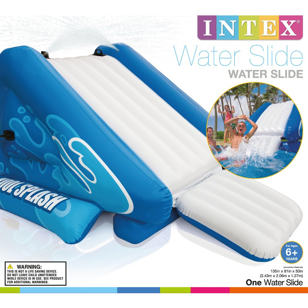 amazoncom intex water slide inflatable play center 135 x 81 x 50 for ages 6 toys games