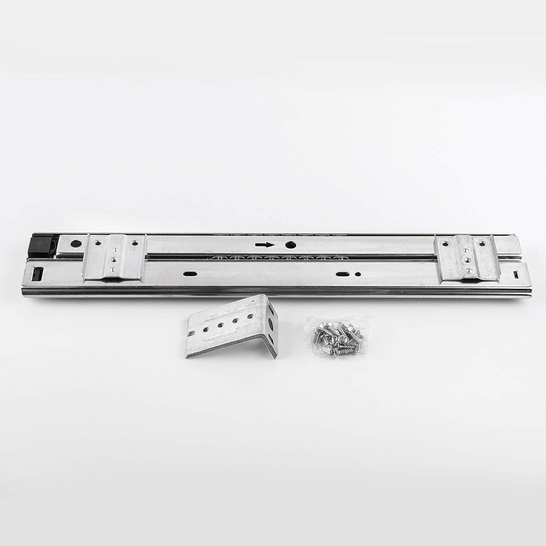 FIX/&EASY Guide scorrevoli con ripiano 390X300mm texture dekoro maple acero per porta-tastiera cassetto estraibili per tastiera mouse e laptop staffa per binario scorrevole nero 300mm