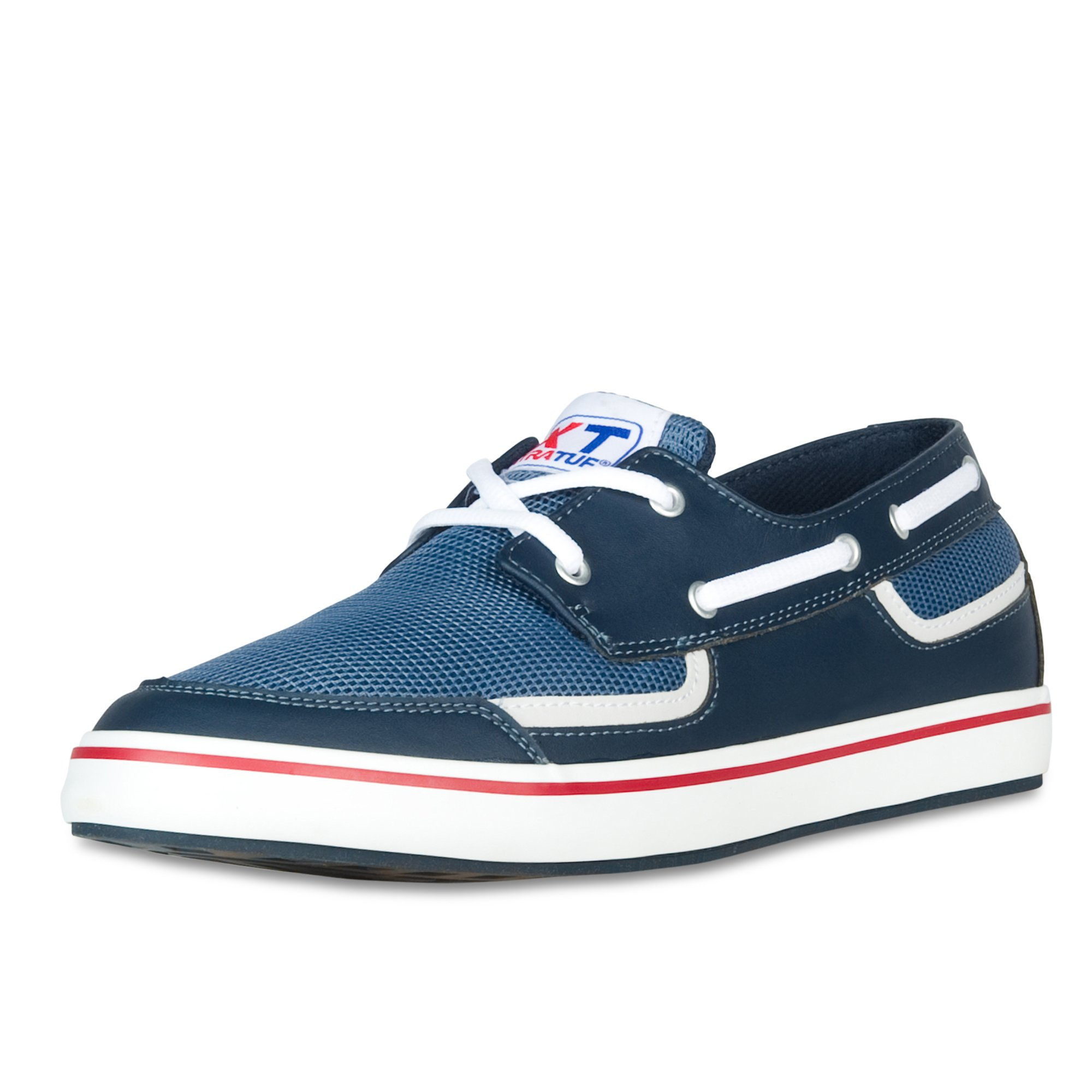 XTRATUF Bluefin Men's Microfiber Leather Deck Shoes, Navy (22605)