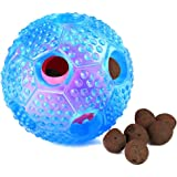 Airsspu Interactive Dog Toy - IQ Treat Ball Food Dispensing Toys for Small Medium Large Dogs Durable Chew Ball - Nontoxic Rubber and Bouncy Dog Ball - Ball Shape Design Cleans Teeth