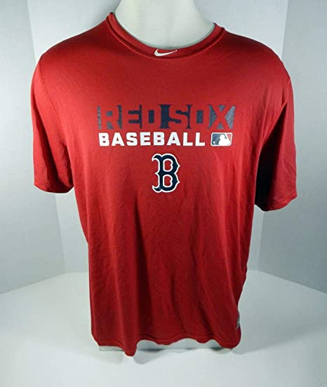 29d0f86e3b5 Image Unavailable. Image not available for. Color  Boston Red Sox   Game  Used Red Batting Practice T Shirt ...