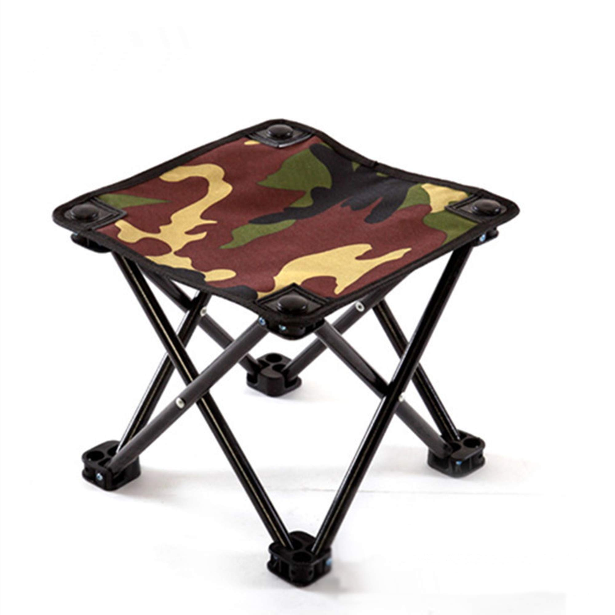 Jasmine Dreamin Folding Camping Stool, Mini Portable Folding Chair, Outdoor Slacker Chair for Camping Fishing Hiking Beach BBQ with a Storage Bag
