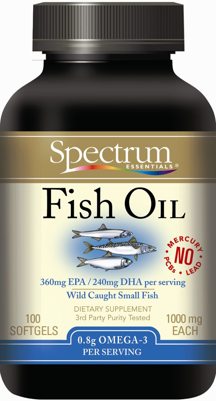Amazon.com: Spectrum Essentials Spectrum Fish Oil, 1000 mg, 100 SoftGels, From Sustainably Harvested Fish, (Pack of 2): Health & Personal Care