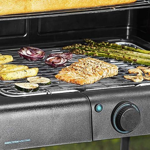 Cecotec PerfectSteak 4250 Stand Barbacoa eléctrica con 2400 W, Parrilla de Acero Inoxidable, Soportes con Gran Superficie, 3 Niveles de Altura y Panel ...