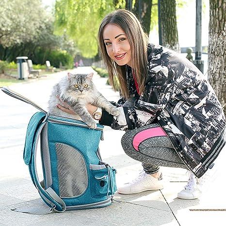 JOYTUTUS Transportín de Viaje para Perros y Gatos, Plegable Bolsa Mochila para Perros Mascotas para
