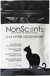 NonScents Odor Control Cat Litter Deodorizer, 4oz (1 Week of Supplier),Suitable for Dr. Elsey's Cat Litter etc.