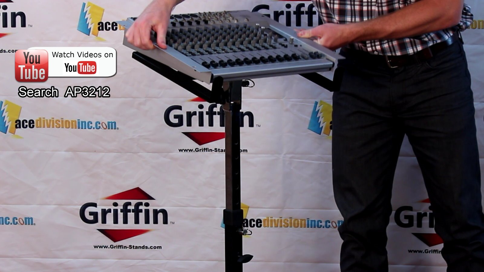 Mobile Studio Mixer Stand DJ Cart by Griffin | Rolling Standing Rack On Casters with Adjustable Height|Portable Turntable | Protect Your Digital Audio Gear and Music Equipment|Heavy Duty Construction by Griffin (Image #7)