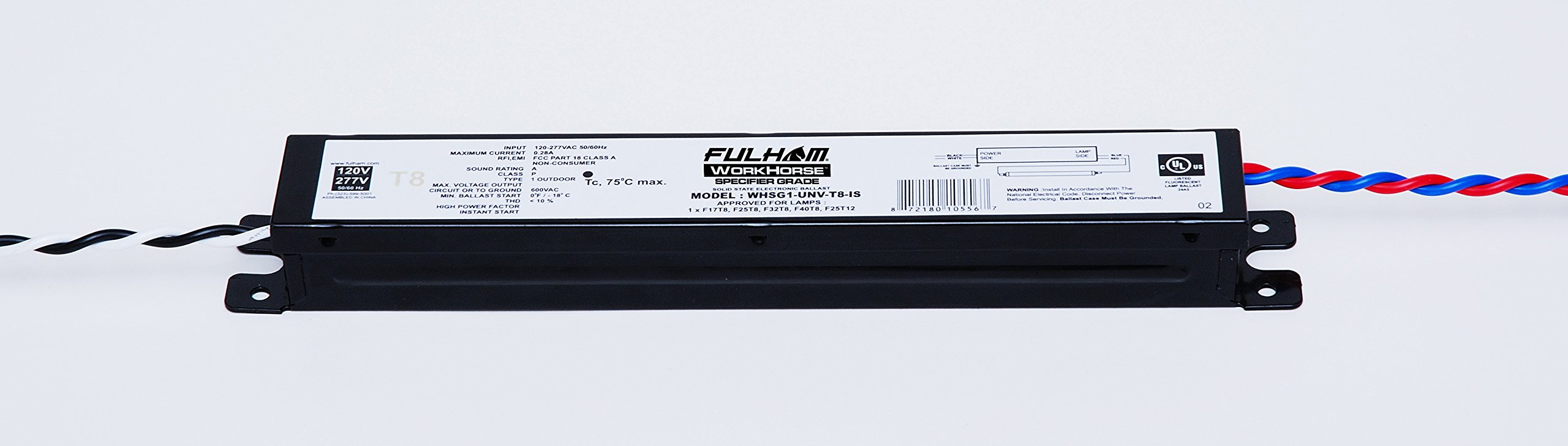 Fulham Lighting Fulham Specification Grade Linear T8 Ballast, WHSG1-UNV-T8-IS