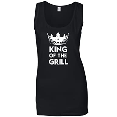 d7645418 Amazon.com: Funny Cooking Womens Vest King of The Grill Novelty ...