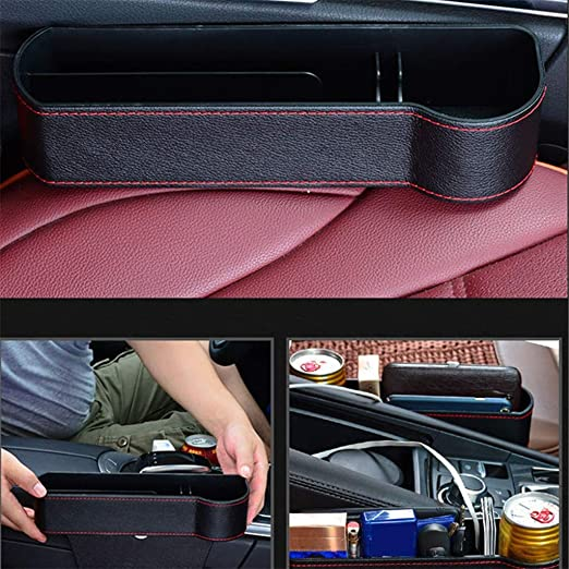 BALMOST Seat Gap Filler Console Organizer Seat Crevice Storage Box for Smartphone Loose Change Coin Wallet Key Seat Catcher Car Pocket