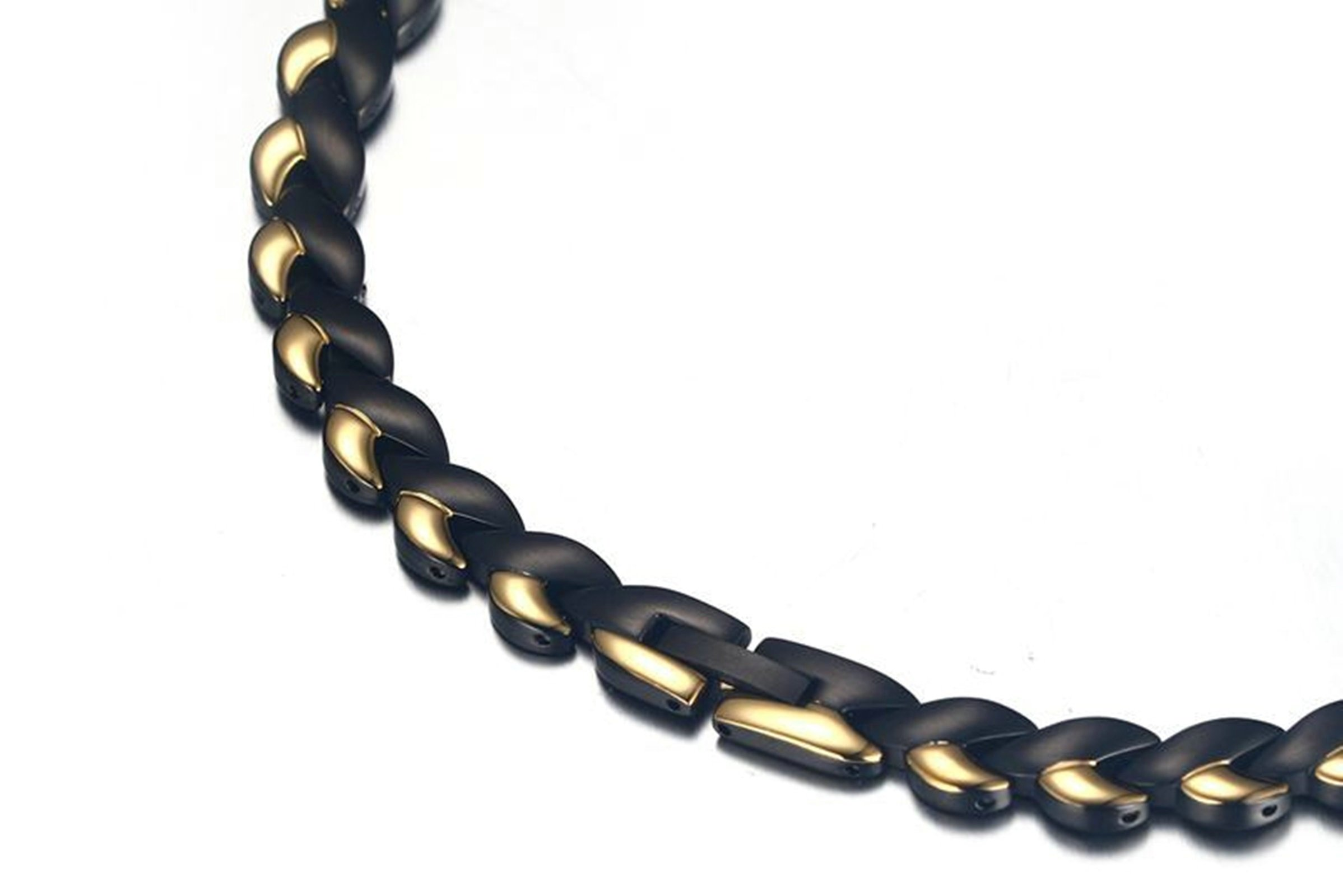 Aokarry Stainless Steel Necklace For Men Round Chain Necklaces Gold 8Mm Length: 49Cm