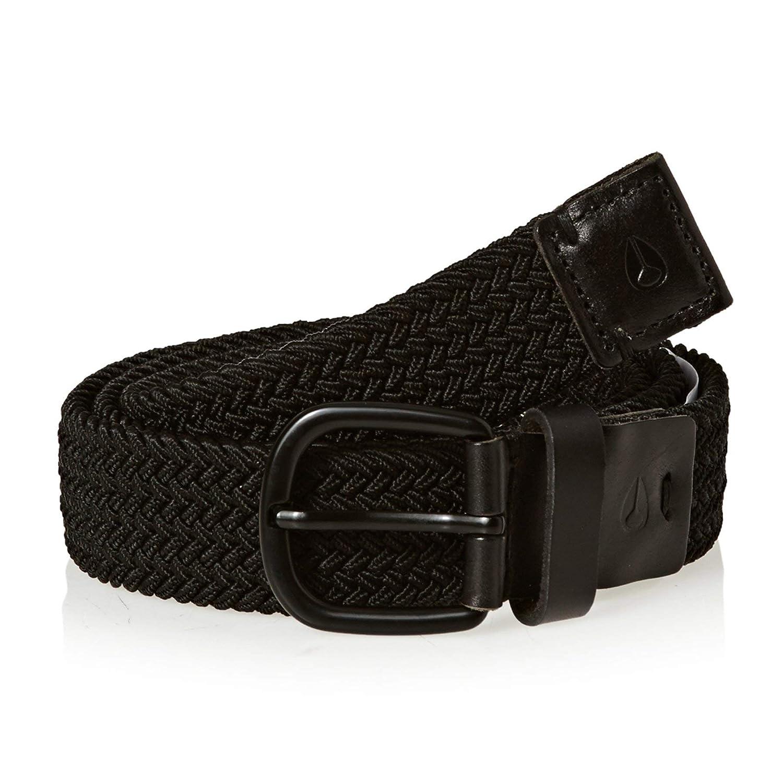 Nixon Extend Belt Leather Belt Medium//Large Black