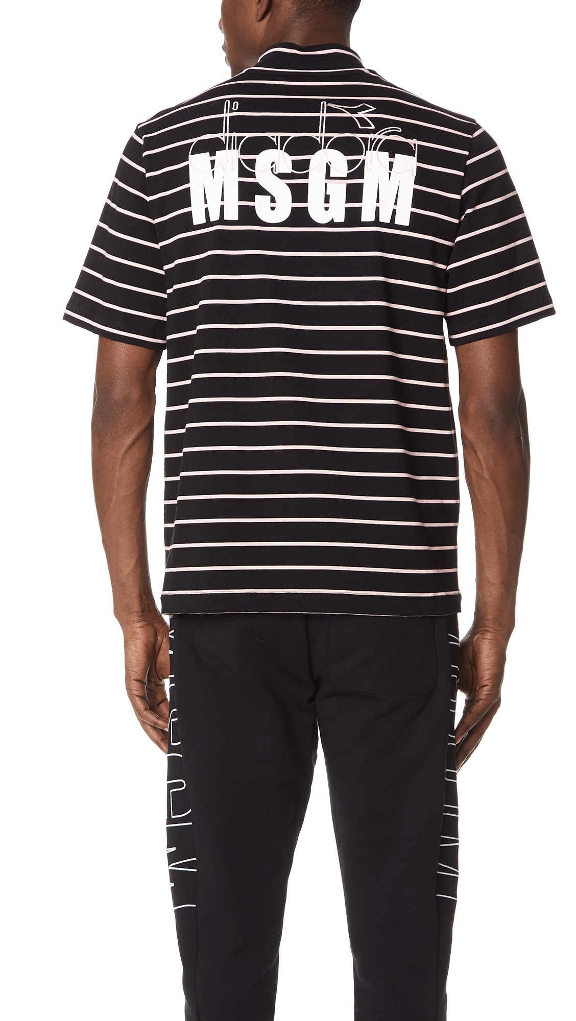 MSGM Men's Diadora Shirt, Black, 44